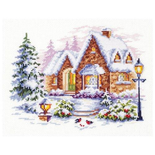 Купить Чудесная Игла Набор для вышивания Зимний домик, 20 x 17 см (110-041), Наборы для вышивания