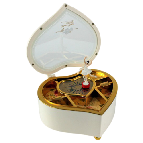 Русские подарки Шкатулка Сердце 24806 белый