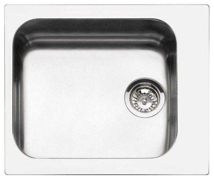 Врезная кухонная мойка smeg VS45-P3 58х50см нержавеющая сталь