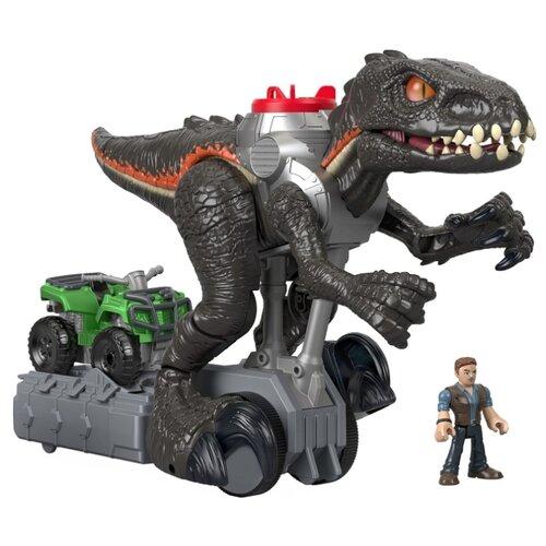 Купить Интерактивная игрушка робот Imaginext Jurassic World Динозавр гигантский FMX86 коричневый/серый, Роботы и трансформеры