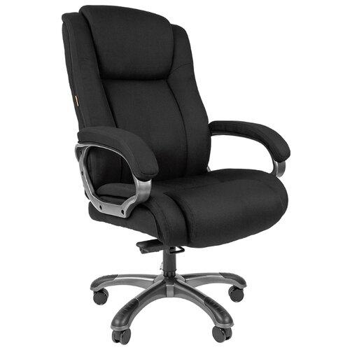 Компьютерное кресло Chairman 410SX для руководителя, обивка: текстиль, цвет: черный компьютерное кресло chairman 434n для руководителя обивка текстиль цвет вельвет черный