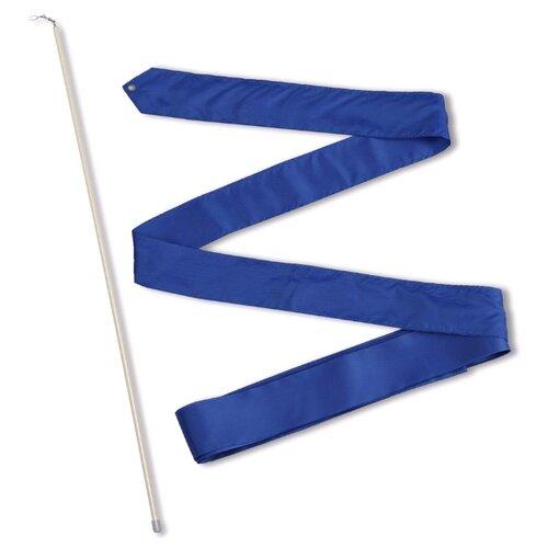 Палочка с лентой для художественной гимнастики Indigo СЕ6 васильковый