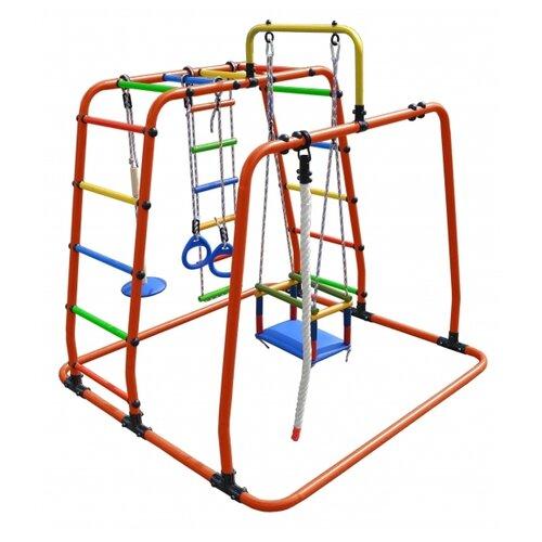 Спортивно-игровой комплекс Формула здоровья Игрунок-Т Плюс оранжевый/радуга, Игровые и спортивные комплексы и горки  - купить со скидкой