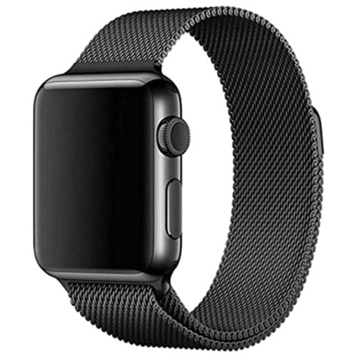 EVA Ремешок Milanese Loop Stainless Steel для Apple Watch 42/44mm черный