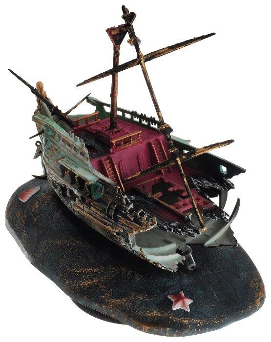 Распылитель Penn-Plax Обломки корабля зеленый/коричневый