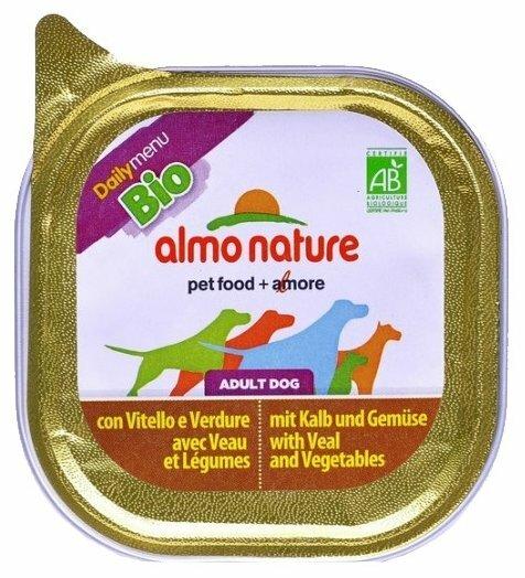 Корм для собак Almo Nature Daily Menu телятина с овощами 12шт. х 100г