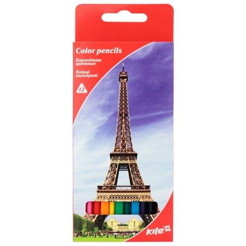 Купить Kite цветные карандаши Города, 12 цветов (K17-053-2), Цветные карандаши