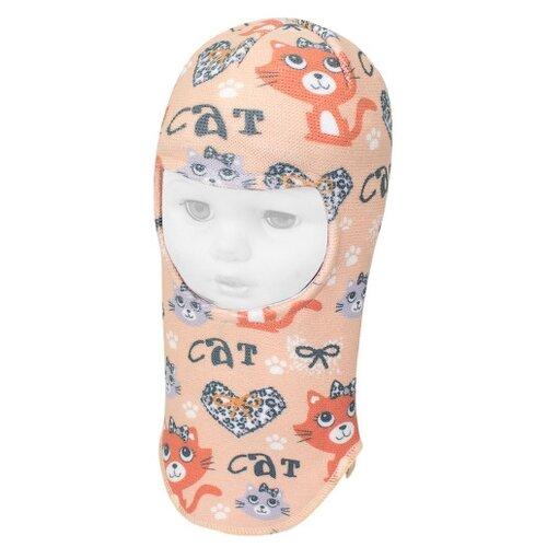 Купить Шапка-шлем Prikinder размер 46-48, персиковый, Головные уборы