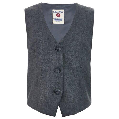 Купить Жилет Button Blue размер 122, серый, Жилеты