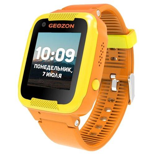 Детские умные часы c GPS GEOZON AIR оранжевый детские умные часы c gps geozon active розовый