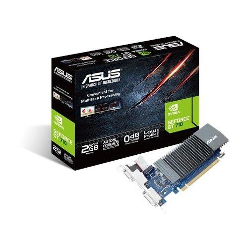 Видеокарта ASUS GeForce GT 710 954Mhz PCI-E 2.0 2048Mb 5012Mhz 64 bit DVI HDMI HDCP BRK Retail