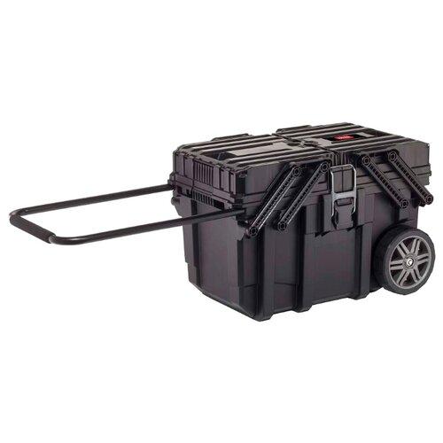 Ящик-тележка KETER Cantilever mobile cart job box (17203037) 64.6x37.3x41 см черный ящик тележка stanley 1 94 210 fatmax mobile work station cantilever 52x38x73 см черный