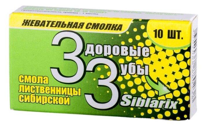 Биологически активная добавка Мирролла Жевательная смолка Siblarix-Здоровые зубы 1,0 г. 10