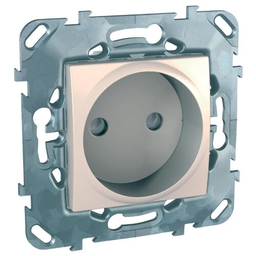 Розетка Schneider ElectricMGU5.033.25ZD UNICA, 16 А, с защитной шторкой, бежевый