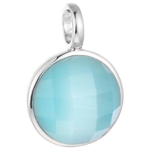 JV Подвеска со стеклом из серебра SP0423-US-001-WG jv кольцо с ювелирным стеклом из серебра b3198 us 011 wg размер 17 5