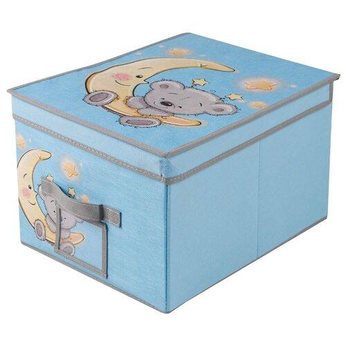 Фото - Handy Home Короб для хранения Мишка 30 х 40 х 25 см голубой органайзер для хранения вещей eva черное золото 4 отделения 30 х 30 х 10 см