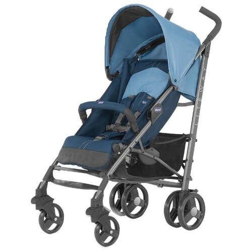 Прогулочная коляска Chicco Lite Way Top blue коляска chicco multiway evo blue