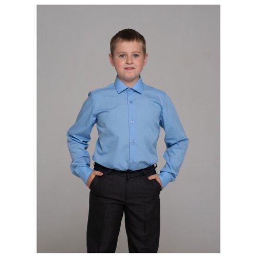 Рубашка Бренда-Люкс размер 31, голубой рубашка бренда люкс размер 31 синий