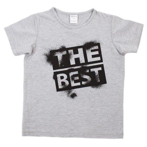 Купить Футболка V-Baby размер 116, серый, Футболки и майки