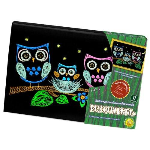 Купить Danko Toys Набор для вышивания Изонить Совята 21 х 31 см (IZN-01-04), Наборы для вышивания