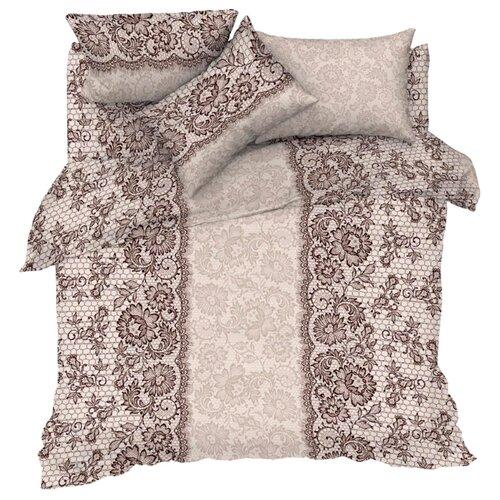 Постельное белье 2-спальное Мирослава Кружево 70 х 70 бязь серыйКомплекты<br>