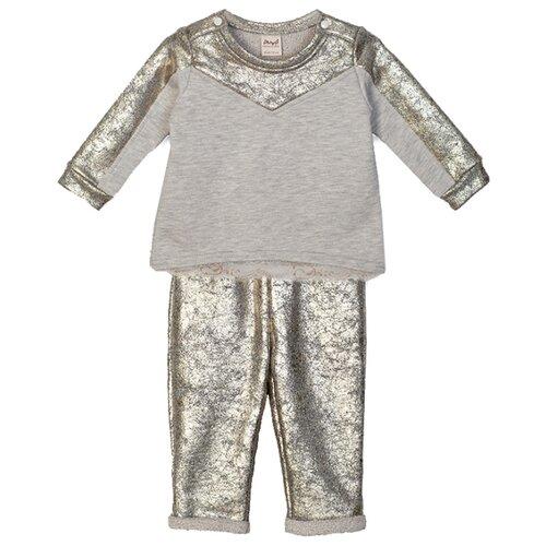 Комплект одежды ЁМАЁ размер 68, светло-серый меланжКомплекты<br>