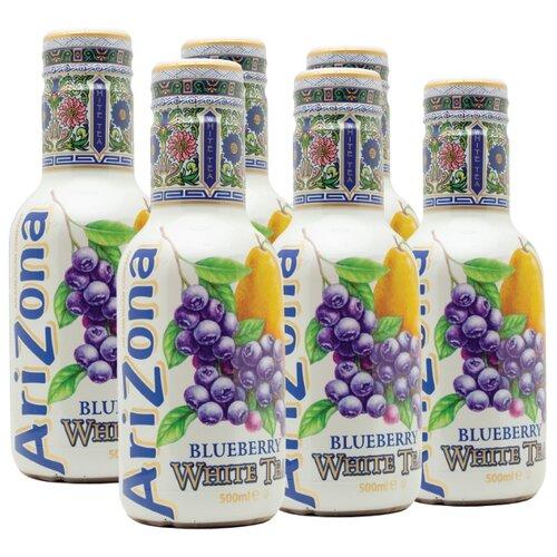 Чай AriZona Blueberry White Tea with Natural flavors, ПЭТ, 0.5 л, 6 шт.Холодный чай<br>