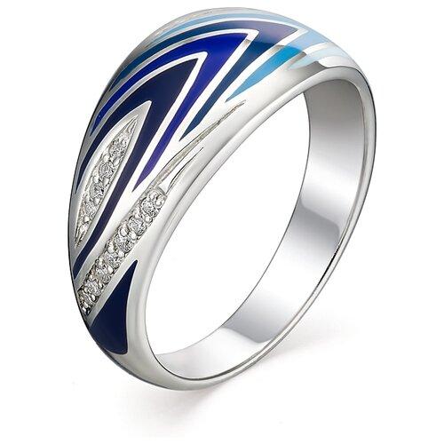 АЛЬКОР Кольцо с 18 фианитами из серебра 01-0954-ЭМ33-00, размер 16 фото
