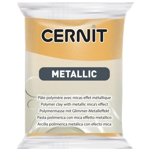 Купить Полимерная глина Cernit Metallic золото (050), 56 г, Глина