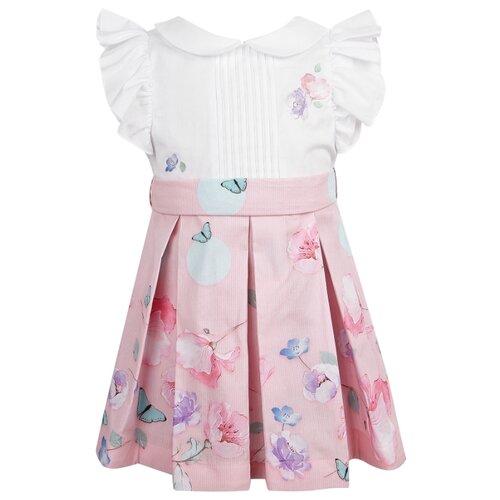 Платье Lapin House размер 80, белый/розовый