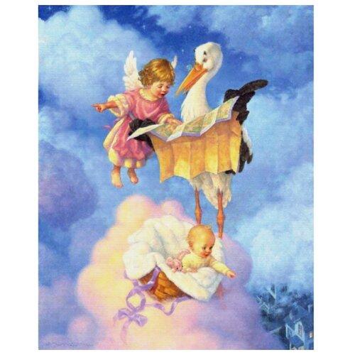 Белоснежка Набор для вышивания Ангелочек с аистом 55 x 68 см (4003)Наборы для вышивания<br>