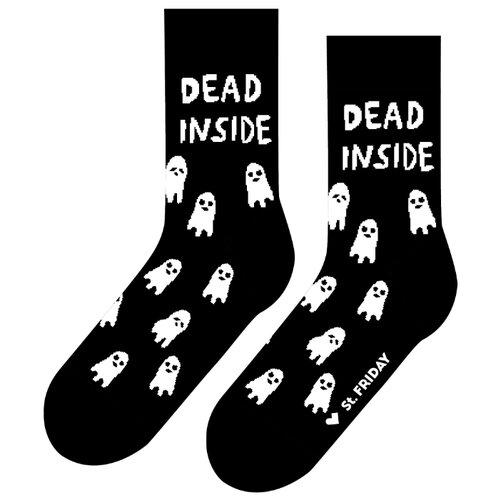 Фото - Носки St. Friday Дед инсайд, размер 34-37, черный/белый носки st friday цой жив гуф умер размер 34 37 черный