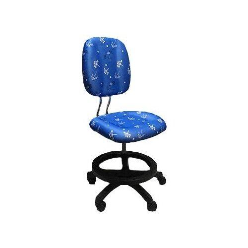 Компьютерное кресло Libao LB-C17 детское, обивка: текстиль, цвет: круги синий кресла и стулья libao кресло детское lb 05
