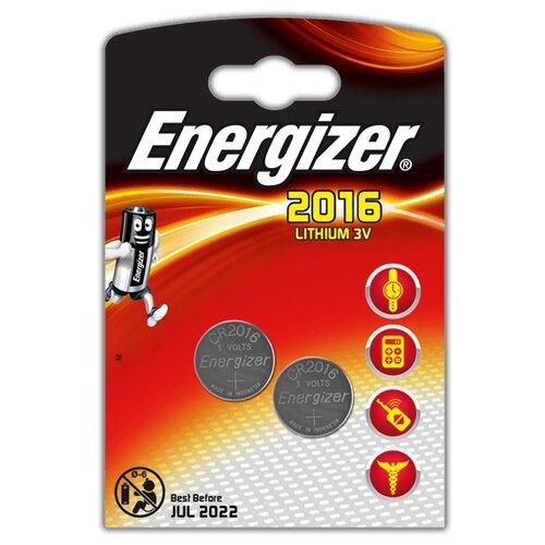 Батарейка Energizer CR2016 2 шт блистер батарейка energizer cr2016 2 шт блистер