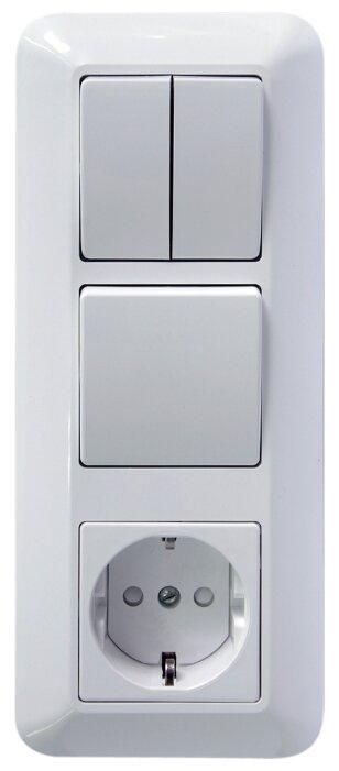 Блок комбинированный Schneider Electric ПРИМА BK2VR-006A-B,16А, с заземлением, белый — купить и выбрать из более, чем 12 предложений по выгодной цене на Яндекс.Маркете