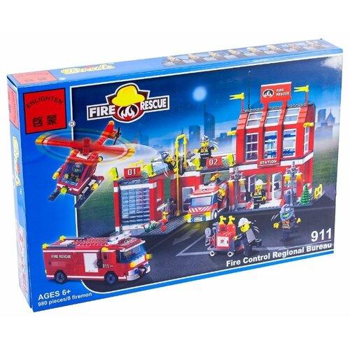 Купить Конструктор Qman Fire Rescue 911 Пожарная часть и техника, Конструкторы