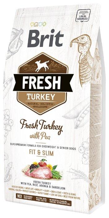 Корм для собак Brit Fresh индейка с горошком