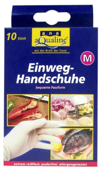Перчатки aQualine бытовые одноразовые, 5 пар, размер M, цвет белый
