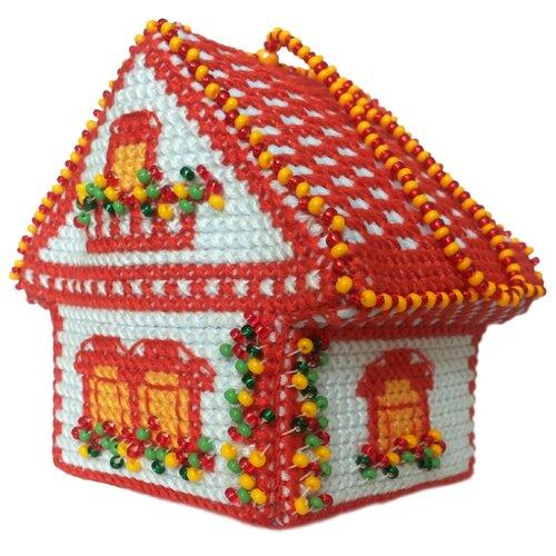 ZENGANA Набор для вышивания бисером и нитками Летний сад 8 х 6 см (М-035)