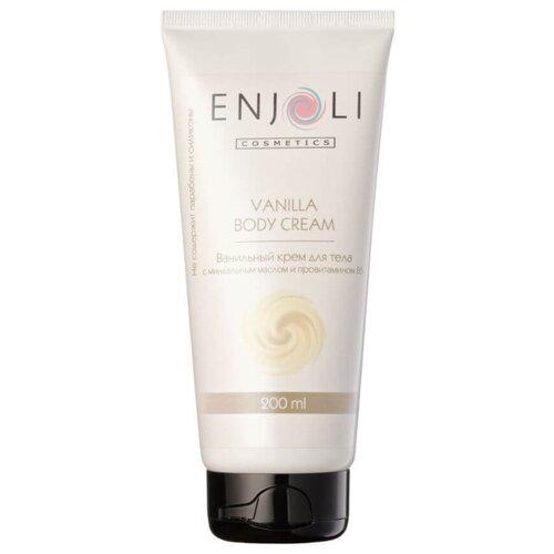 Крем для тела Enjoli cosmetics ванильный с миндальным маслом и провитамином В5, 200 млКремы и лосьоны<br>