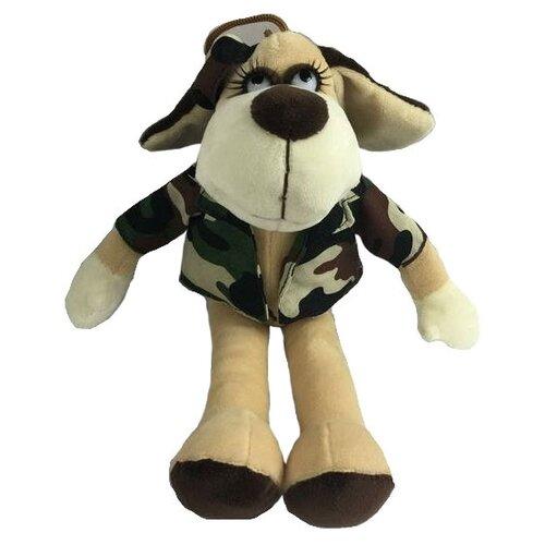 Фото - Мягкая игрушка ABtoys Собака в камуфляжном костюме 15 см мягкая игрушка abtoys собака m2032 14 см