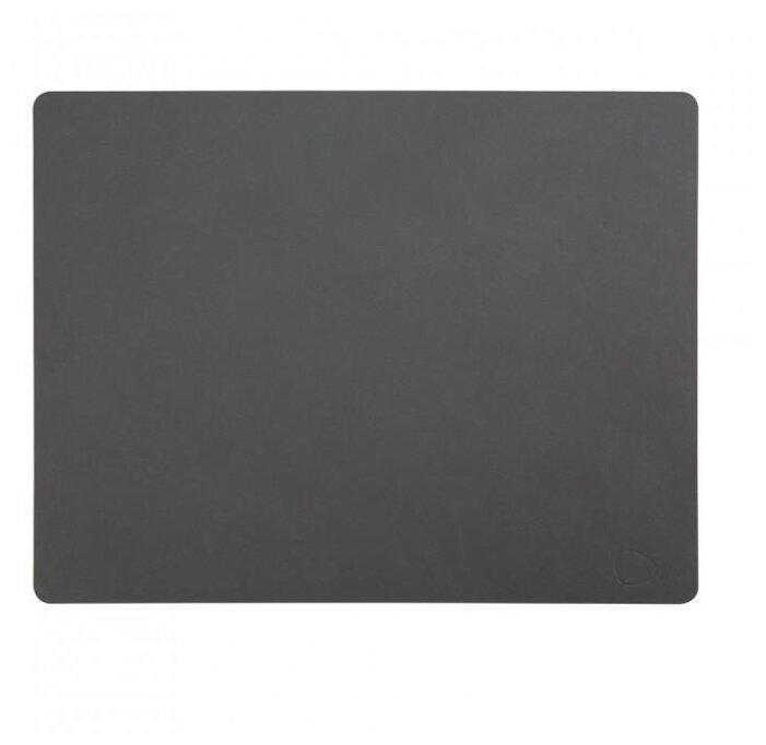 981914 NUPO black подстановочная салфетка прямоугольная 35x45 см, толщина 1,6 мм, кожа, Дания, Lind DNA 981914