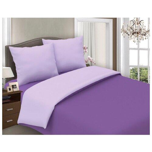 Постельное белье семейное Seta Azalea Iris поплин фиолетовыйКомплекты<br>
