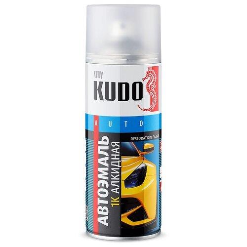 KUDO аэрозольная автоэмаль 1К алкидная 520 мл 601 черный