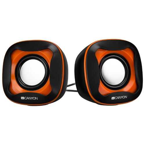 Компьютерная акустика Canyon Wired USB 2.0 Computer Speakers черный / оранжевый