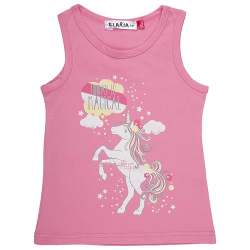 Купить Майка Elaria размер 128, розовый, Футболки и майки