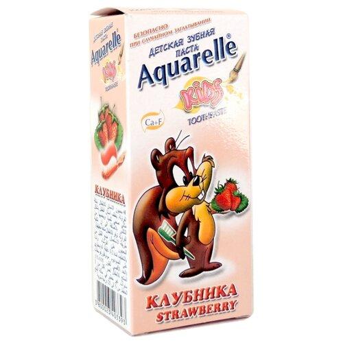 Зубная паста Aquarelle Kids Клубника 3+, 50 млГигиена полости рта<br>