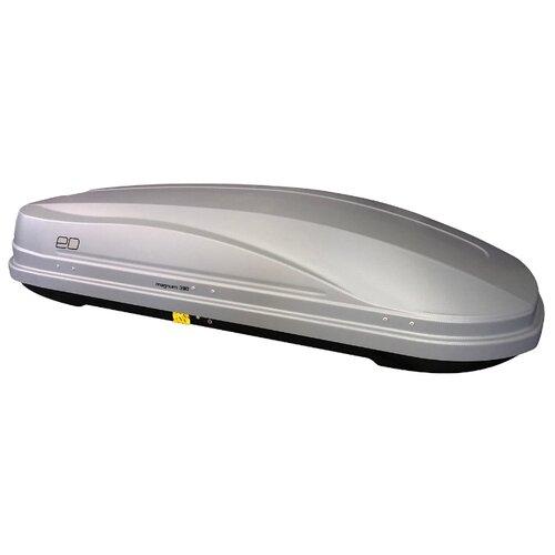 Багажный бокс на крышу Евродеталь Магнум 390 (390 л) серый карбон
