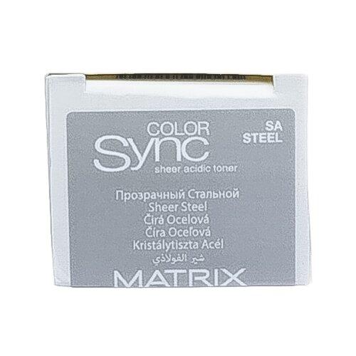 Купить Matrix Color Sync тонер для волос на кислотной основе без аммиака Sheer acidic toner, steel, 90 мл