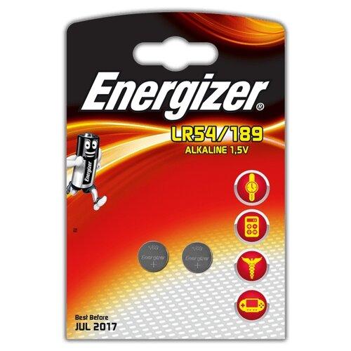 Батарейка Energizer LR54/189 2 шт блистер батарейка energizer cr2032 2 шт блистер